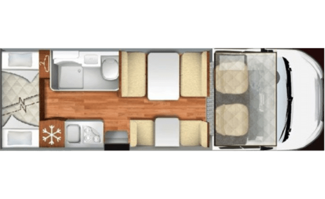 Alcove 6P nice and large and luxurious, 2017 model