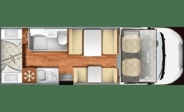 Alcove 6P bello, grande e lussuoso, modello 2017