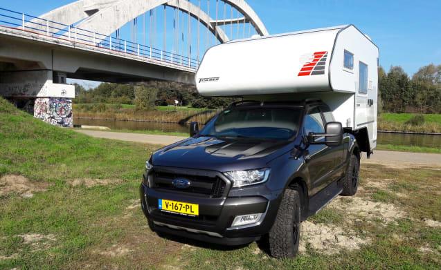 Tischer Kabine mit Ford Ranger Wildtrek 3.2 – 4X4 Motorhome Ford Ranger Wildtrak 3.2 Autom. with Tischer Box 240