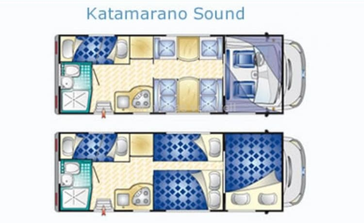 6 - Ford Rimor Katamarano 2013 6/7 persons