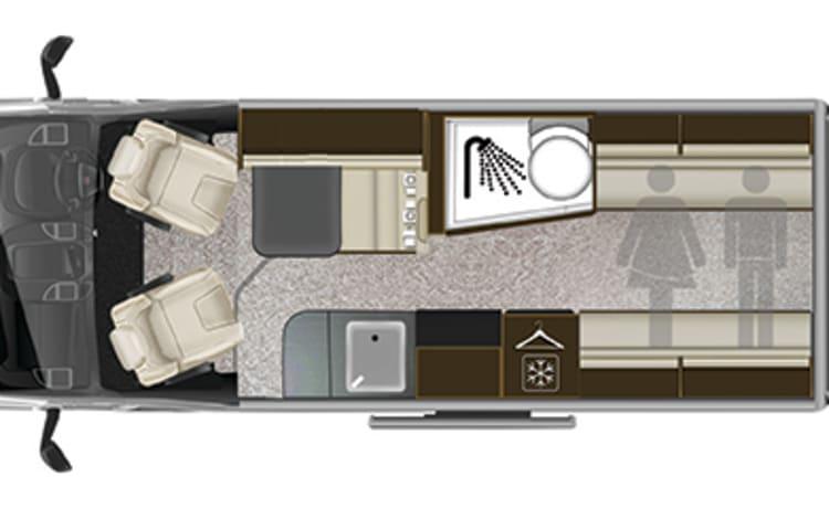 2-4 ligplaatsen 2019 model bedrieglijk ruime camper