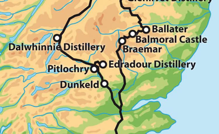 Cartina Stradale Della Scozia.Fuga Per La Bellezza E La Tranquillita Della Scozia Costiera Da 109 Al Giorno Goboony