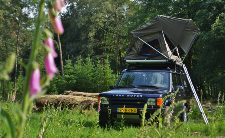 #VanHetPad – ~ Tough Land Rover Discovery 2000 with ROOF TENT! ~