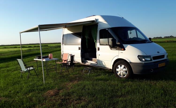 De Snelle Jelle  – De Snelle Jelle; zeer nette 3 pers Ford Transit camper
