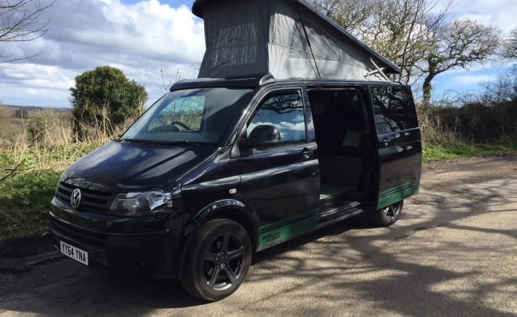 VW T5 Camper Van Rental In Cornwall