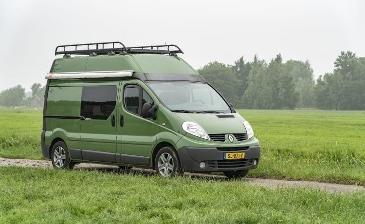 KIWI 3 – KIWI 3 Renault Trafic Eco con il proprio portapacchi