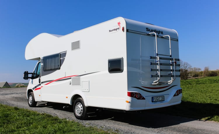 Sunlight A72 5 pers.met stapelbed, nieuw 2019 – 2019 !! ..... Book now some campers / periods available