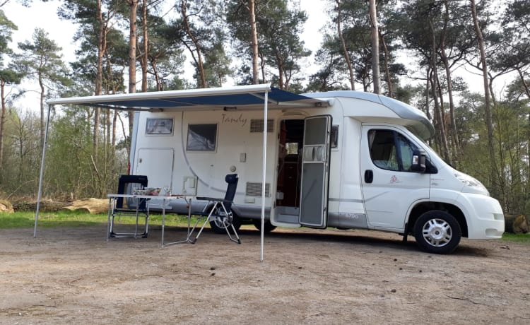 Nice, neat MC Louis Camper, XL bed, large garage