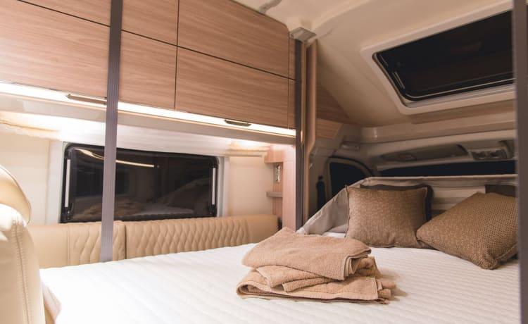 Lamorna, an executive level, luxury motorhome sleeping 4