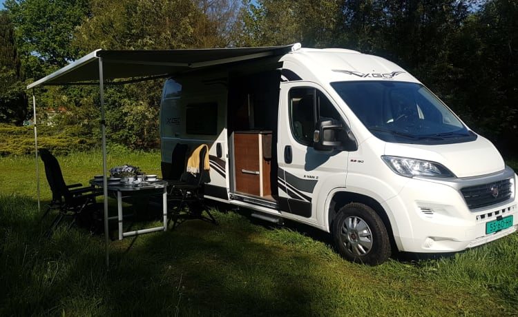 Bus camper Fiat Ducato 2.3 130pk  – Bus camper (year of construction 2019) 3/4 pers incl. Air conditioning