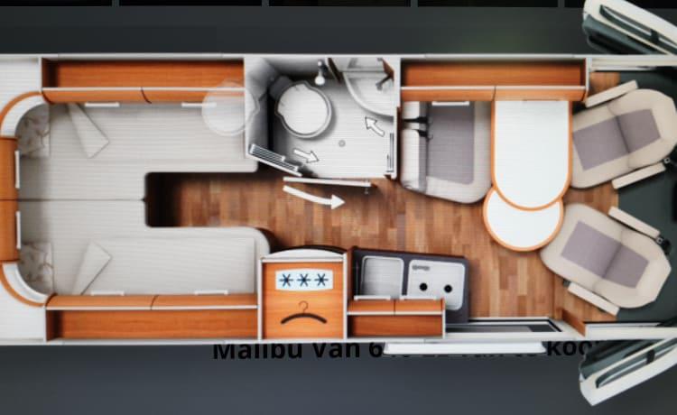 Spiksplinternieuwe Malibu Van 640, ideaal voor twee personen