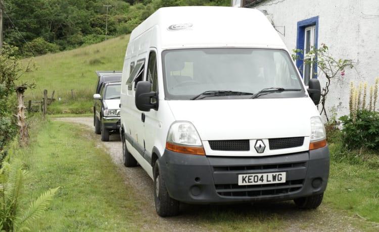 Cowal Camper – Renault Camper auf dem Cowal Way