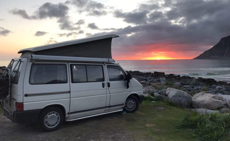 Onze Compacte Volkswagen T4 California wendbaar en overal parkeerbaar