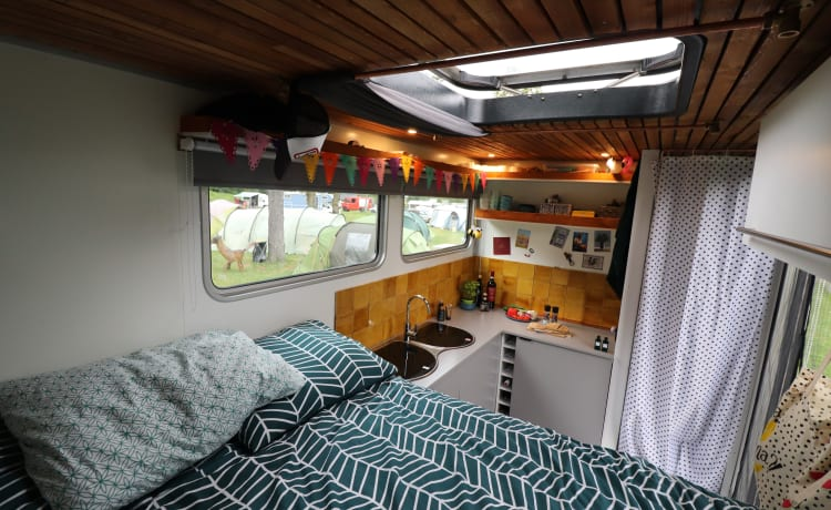 Atmospheric self-sufficient motorhome including shower!
