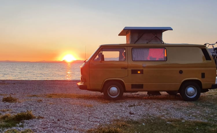it giele buske – Vintage when traveling with our VW T3