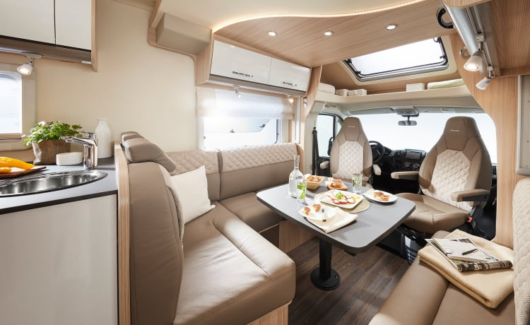 Lavish yourself with luxury, brand new 4-berth 'Burstner' Motorhome