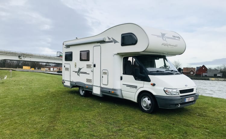 The happy camper – Ford Enlagh Marlin 65G max. 6pers.  huisdieren welkom !