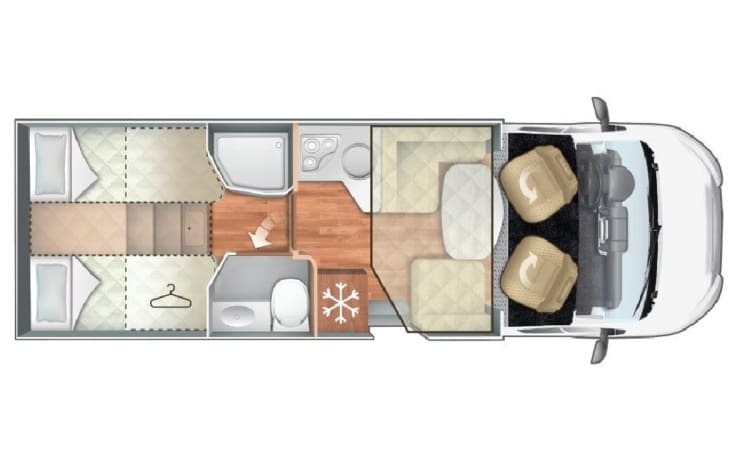 25 - Roller Team 284 TL, separate beds, with FREE All-Inclusive inventory