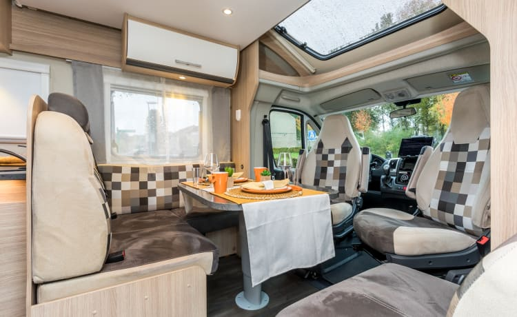 Experience the ultimate holiday feeling in this super luxurious Sunlight T68 motorhome