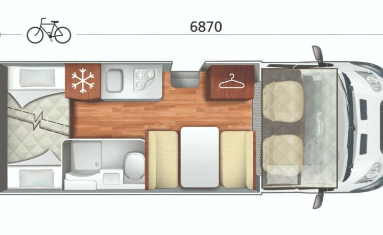 Marv – 2 - 6 Berth Modern Stylish Luxury Motorhome Family Friends Pets