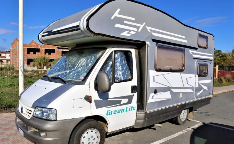 Green Life – Coachbuilt camper op FIAT Ducato 2000 JTD