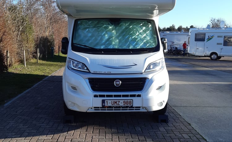 recent and spacious family motorhome