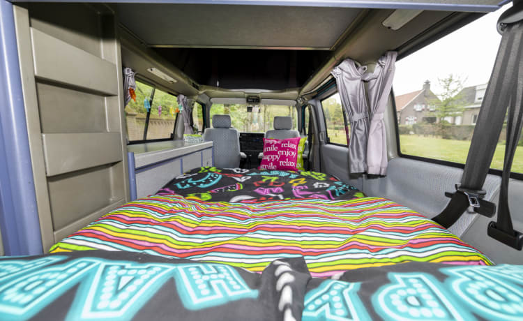 Happy - Cozy and robust VW T4 California with sleeping roof