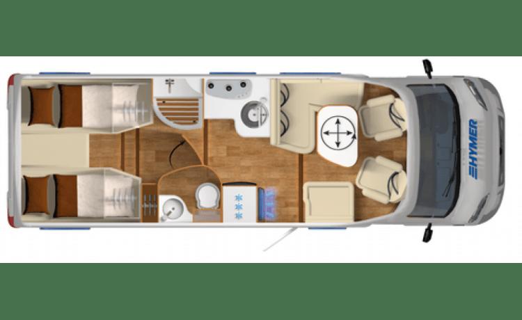 Vier persoons luxe camper van Wildcampers