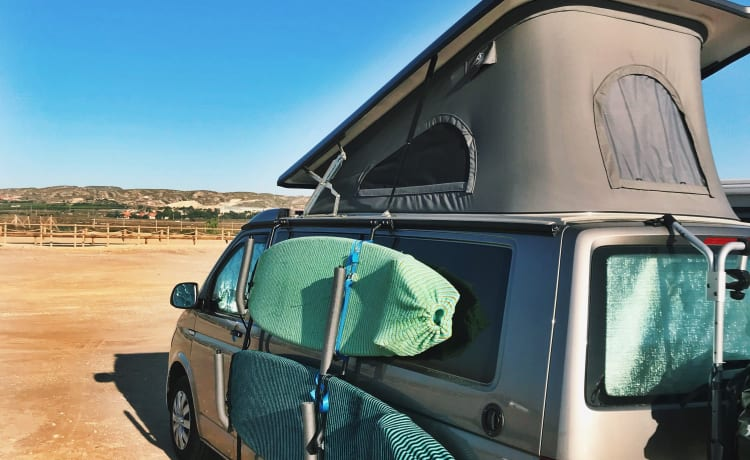 Marcel – Volkswagen Westfalia (California) with built-in toilet and hot water