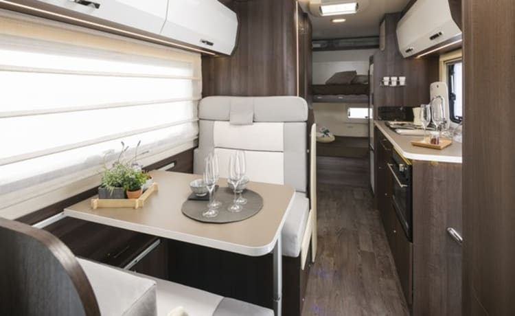 Wanderlust and adventure in our modern family motorhome.