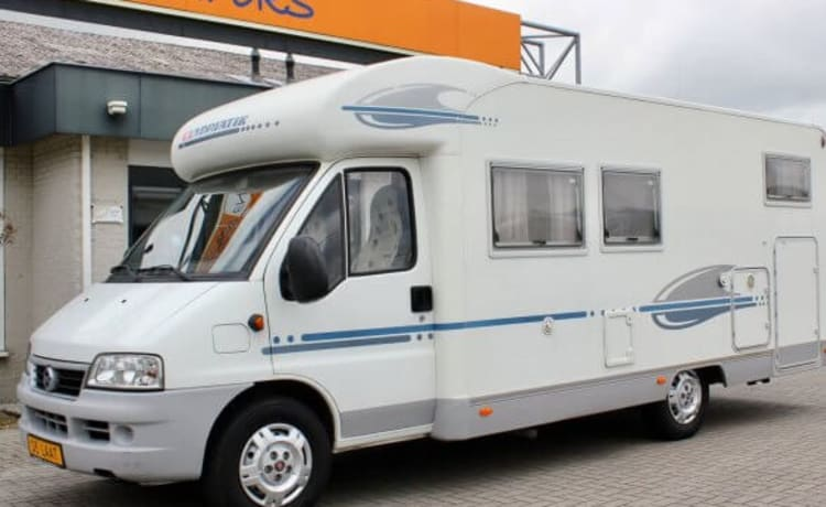 Comfortable Camper Adria Coral 660SL with length beds