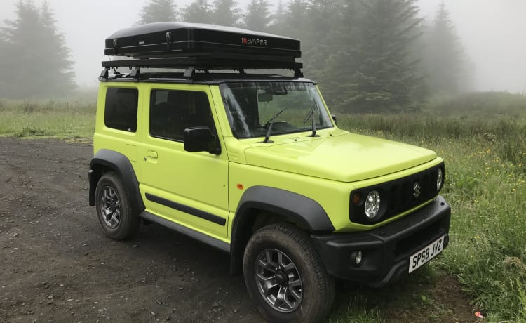 New Suzuki Jimny with Ikamper roof tent  - one minute set-up !