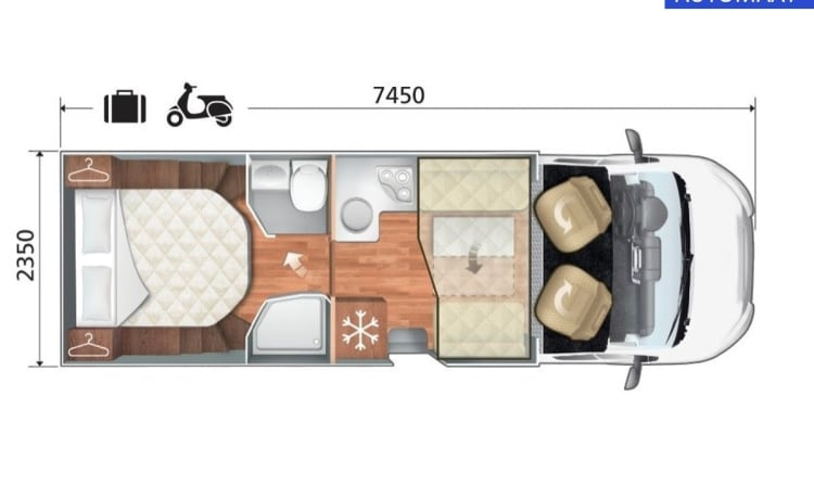 30 - RT Kronos 267TL, queen bed, with FREE All-Inclusive inventory
