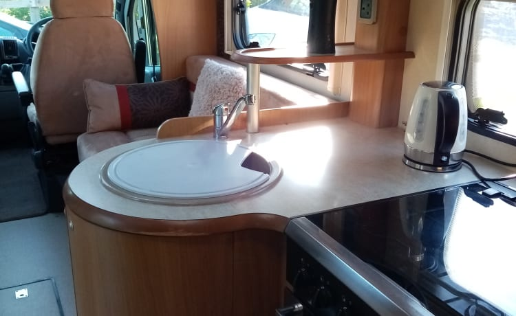 Lazy Days –  our lovely 2 berth motorhome.