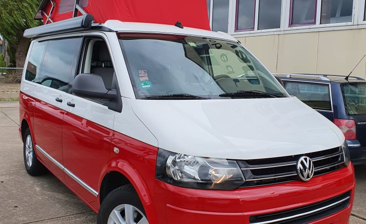 VW T5 California, 4 seats and 4 sleeping places. Beautiful camper!