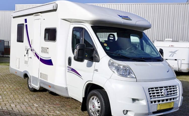 Beautiful complete Mc-Louis semi-integrated motorhome for rent.