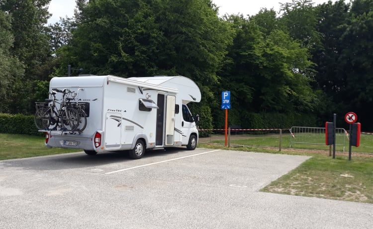 Fully furnished alcove motorhome