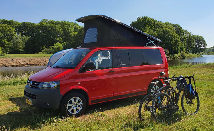 Happy camper – Volkswagen Transporter T5 'California' camper 2 ltr from 2011 with awning