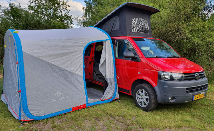 Volkswagen Transporter T5 'California' camper 2 ltr from 2011 with awning