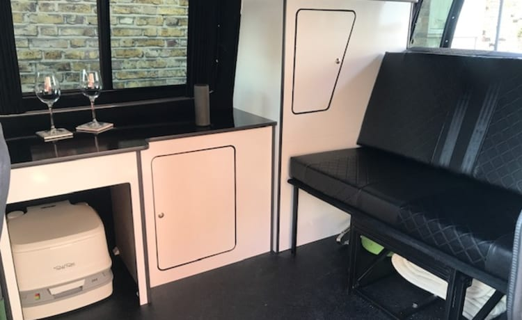 Black Beauty smart van with your very own roof terrace
