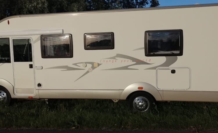 very spacious 4 person integral camper with phenomenal view