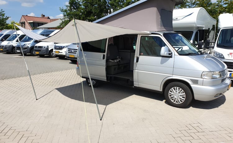 VW T4 California gray, 4 sleeping, 4 seats.