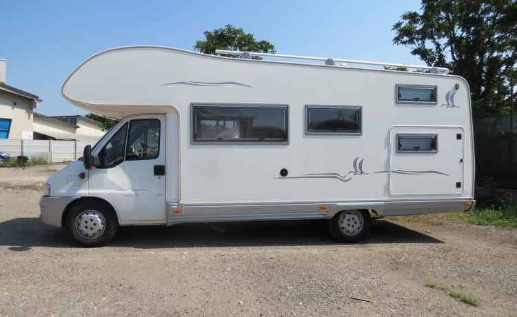 Elnagh Super D 115 attic sleeps 7