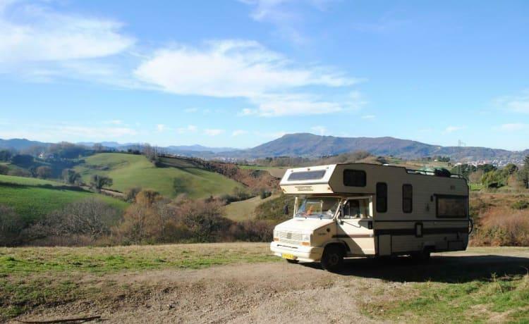 Koetje –  KOETJE;  Fiat dukato 2.5 TD met 6-7 m lange en ruime bergland opbouw.BOE