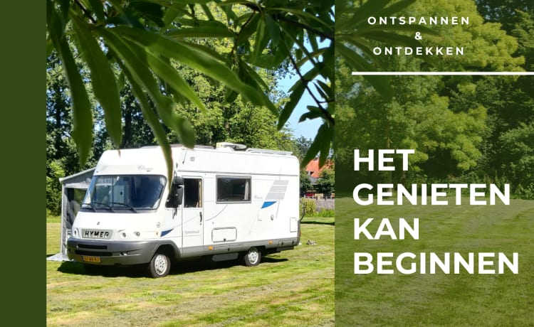 Kempurtje  – Hymer B544; 6 person extra comfortable and complete camper!