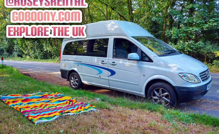 Zito – 2 Berth Mercedes Campervan Rental With Optional Tent Hire