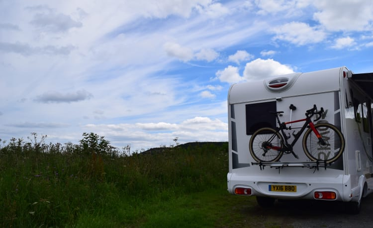 Rosie the luxury 6 berth family and dog friendly Motorhome