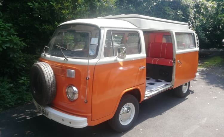 Classic VW Type 2 Camper with New Engine and Interior