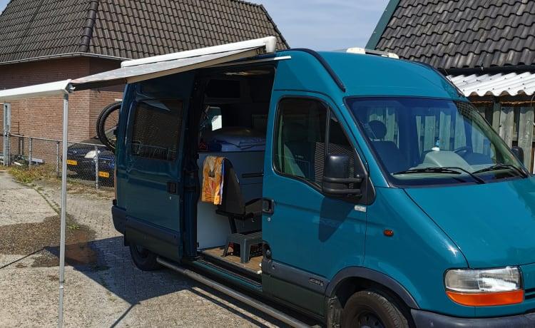 stoere 2 pers Renault master Camper inclusief alle voorzieningen.