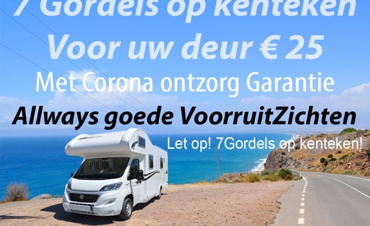 7 Pers Spacious Rimor 2018. Autom. 4 x fixed bed, 150 hp Rijb-B